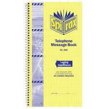 telephone message book spirax carbonless designer telephone message book 2 pack officeworks