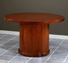 description new 4 feet wood round conference table