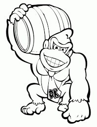 Donkey Kong Coloring Pages Awesome Free And Also 3