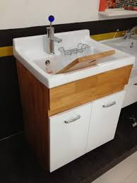24 Inch Sink Cabinet Furniture 24 Inch Oak Utility Sink Cabinet For Laundry With