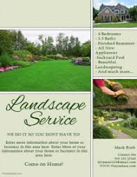 Sample Flyers For Landscaping Business Sample Landscape Flyers Magdalene Project Org