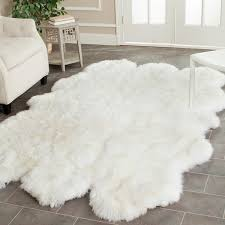 white shag rug. Safavieh Hand-woven Sheepskin Pelt White Shag Rug R
