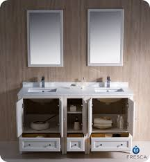 Fresca Oxford 60quot Double Sink Traditional Bathroom Vanity Antique