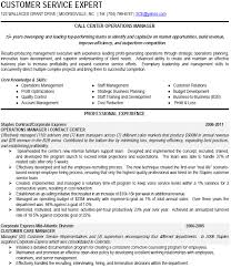 sample call center manager resume. call center operations manager resume ...