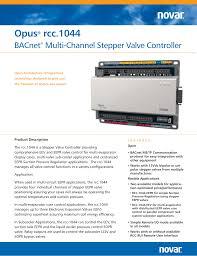 Novar Lighting Controls Opus Rcc 1044 Manualzz Com