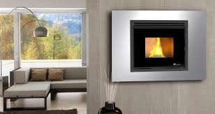 pellet heating stove contemporary steel wall mounted o