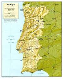 Ligging portugal