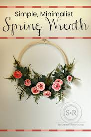 simple minimalist diy spring wreath