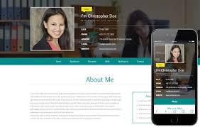 Resume Website Template Www Psycarespb Com