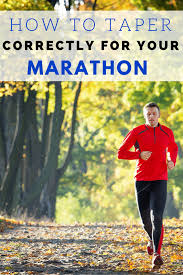 how to taper for a marathon