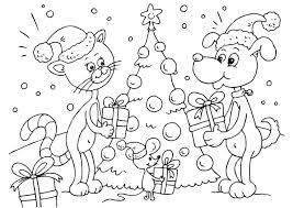 Kleurplaat Kerst Voor Dieren Afb 23373 Images