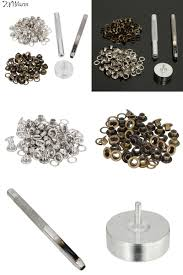 visit to durable leathercraft tool grommet installation setting tool kit leather hole punch br silver coated metal eyelets