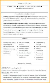 Human Resources Generalist Resume Sample Resume For Hr Generalist Fascinating Human Resources Generalist Resume