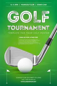 Golf Tournament Poster Template Stock Vector - Illustration Of ...