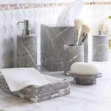 Grey Marble Bath Accessories Frontgate Marble Bathroom Accessories Bathroom Decor Accessories Marble Accessories