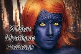 x men mystique inspired makeup tutorial