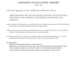 managerial approaches to motivation scientific management  cognitive evaluation theory deci 95 the deci argument or the insufficient justification thesis
