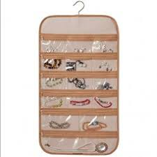 wall hanging storage. Unique Storage Hanging Organizers Jewelry Storage Bag DoubleSided Cotton Wall  Mounted Pockets Rotary Transparent  With L