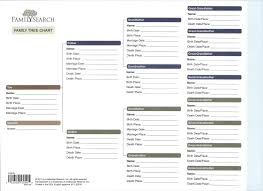 Printable Family Tree Charts New Family Chart Template