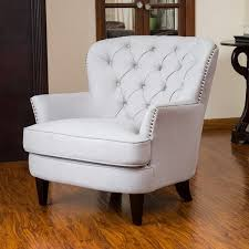 modern fabric club chair in christopher knight home tafton tufted