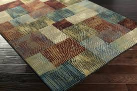 brown area rugs contemporary blue solid rug 8x10 chocolate