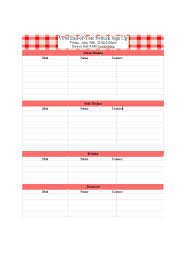 Free Printable Sign Up Sheet Template Christmas Party