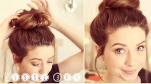 Different Bun Hairstyles How To Messy Bun Zoella Youtube
