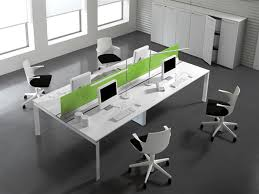 cool office furniture. Fabulous Refreshing Green Accents On Modern Office Desk Which Is Painted In White Completed With Table Cool Furniture C