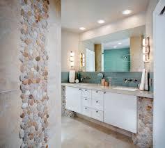 Bathroom: Beachy Bathrooms With Recessed Lighting And Towel Rack ...