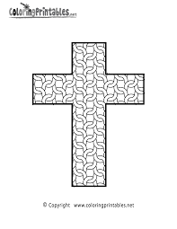 cross pictures to color. Plain Cross Coloring Pages For Adults Only  Complex Cross Page  A Free Adult  Printable Inside Pictures To Color C