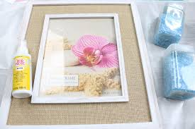 supplies needed to make a broken glass mosaic picture frame