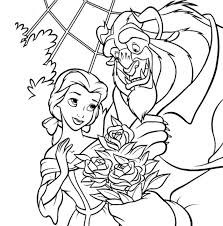 Beauty And The Beast Coloring Pages Bestofcoloringcom