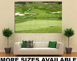 wall art giclee canvas picture print gallery wrap ready to hang golf course vernon canada 60x40 48x32 36x24 24x16 18x12 3 2 on golf wall art canada with golf canvas art etsy