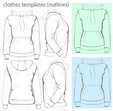 Pocket Template Womens Hooded Sweatshirt With Pocket Template Stock Vector Image