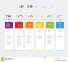 Material Design Timeline Vector Timeline Infographic Stock Vector Illustration Of