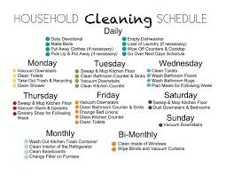 House Cleaning Checklist Daily Weekly Monthly - April.onthemarch.co