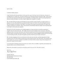 Sample Teacher Recommendation Letter Custom Letter Of Recommendation For Colleague Mamiihondenkorg