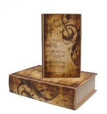 Buchattrappe Aufbewahrungsbox Box Schmucketui Buchsafe Notenschlüssel 2 Stück