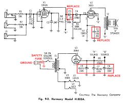rebuilding a vintage tube amplifier slackpropagation harmony h303a amplifier schematic
