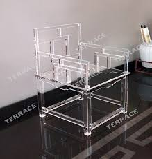 clear acrylic empire chinese chair lucite arm chairs