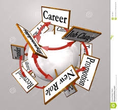 new job vs old job career change promotion better work stock career signs professional job path promotion change royalty stock photography