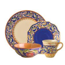 pfaltzgraff  villa della luna blue  piece dinnerware set