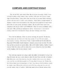 english assignment compare or contrast essay compare and contrast essay