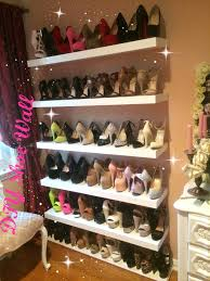 ... Ideas About Shoe Wall Shelves For Shoes White Stained Wooden Floating  Shelf For Shoes Place Diy Shoe Wall Youtube ...
