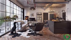 Industrial Living Room Design Design800608 Modern Industrial Living Room 15 Stunning