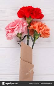 Paper Carnation Flower Paper Bouquet Of Carnation Flowers Stock Photo Denisfilm 213116702