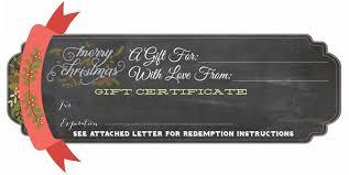 Free Printable Gift Certificate Moxiblog
