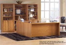office hutch desk. Genuine Oak Office Furniture - Executive L-desk With Right Return Hutch Desk