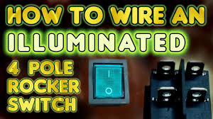 how to wire an illuminated 4 pole rocker switch kcd4 by vegoilguy light switch wiring diagram 4 wires how to wire an illuminated 4 pole rocker switch kcd4 by vegoilguy