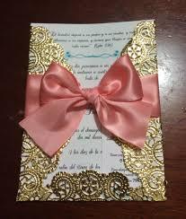 Beautiful Gold Lace Coral Wedding Invitation Diy Doily Invitation